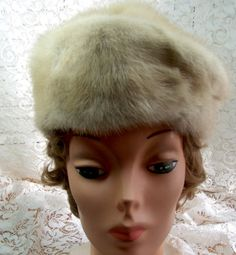 MINK HAT   Beige and gray in color   Cloche hat by thingsandblings
