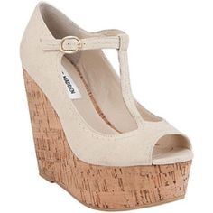 Steve Madden Creme Wedges Super cute wedge for all seasons! Beautiful cork bottom ad canvas top with detailed stitching. Lightly worn, with minor scuffs on outer canvas (can be easily cleaned) Steve Madden Shoes Wedges