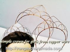easy crown - full version ( slow ) - How to make wire jewelry 281 - YouTube