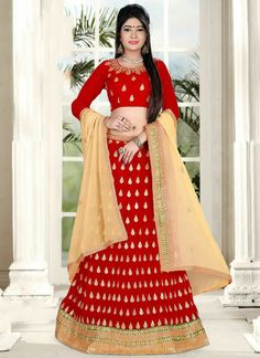 Wedding Wear Designer red peach Lehenga Choli