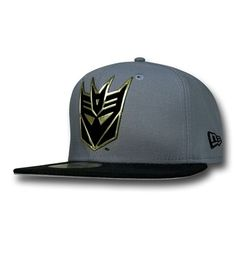 The Transformers Decepticon Flock Cut Cap is made by New Era and from polyester while featuring an exceptionally bold symbol for the anti-Autobots, the Decepticons! Designer Caps, Caps Game, All Pop, Dope Hats, Flat Bill Hats, New Era Fitted, Hip Hop Outfits, New Era Cap, Snap Backs