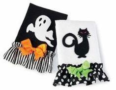 Halloween Towels make great Halloween decor!