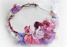 Flower Crown Hair Accessories Wedding Tiara Bridal by SajmonArt