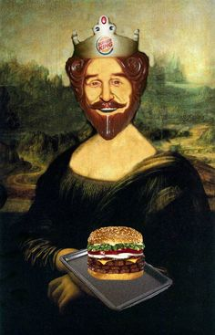 Versiones divertidas de La Mona Lisa: Burger King.