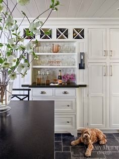 South Shore Decorating Blog: 50 Favorites for Friday #158  Bar area for Scott...shelves above and wine storage above