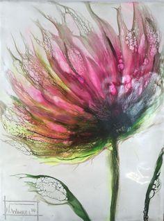 """Encaustic Schellac Kunst — """"Flora 4"""" by N.Winkel  Encaustic-schellac                                                                                                                                                                                 Mehr"""