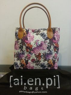Small - Purple Flower Embroidery Handmade Bag. Still Available, please contact niko.hendratmo@gmail.com for inquiry and orders worldwide