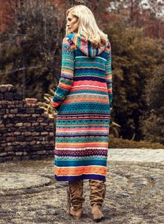 Latest fashion trends in women's Coats. Shop online for fashionable ladies' Coats at Floryday - your favourite high street store. Hooded Sweater, Sweater Coats, Long Sleeve Sweater, Dress With Cardigan, Knit Cardigan, Latest Fashion For Women, Latest Fashion Trends, Crochet Jacket, Knitted Coat