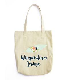 Wingardium Leviosa Canvas Quote Tote ca586293198ab