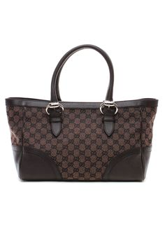 Gucci Monogrammed Shoulder Bag in Brown - Beyond the Rack