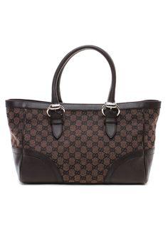 Gucci Monogrammed Shoulder Bag in Brown - Beyond the Rack