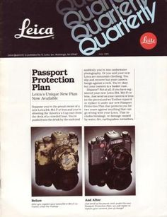 Leica Quarterly Newsletter 1981 Camera Survives 5 Mile Fall, Poncho