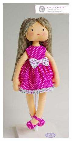 Susie - hand made rag doll child friendly - by AnneCorner