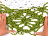"Crochet DROPS shawl with lace pattern in ""Alpaca"". Free pattern by DROPS Design."