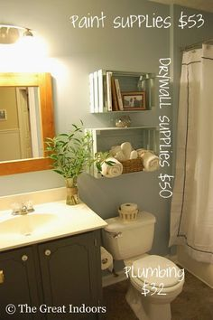 The Great Indoors: Guest Bathroom  Crate storage