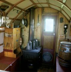 Sheep Wagon an 1800s sheep wagon turned tiny home zillow porchlight Sheepherder Wagon Interior