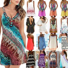 Beach Strand Bade Wear Chiffon Longtop Kleid Farbauswahl ONE-SIZE