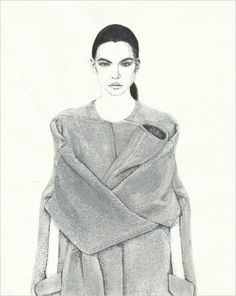 David Murray is an #illustrator that replicates #aw13 shows such as #Alexanderwang #Celine and #Jeremyscott
