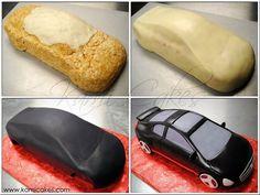 KAMI Cakes! - car cake topper process