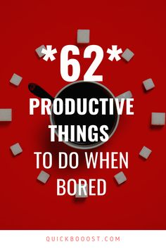 Looking for productive things to do when bored at home? This is what you need! Use these tips, tactics, and ideas to end your boredom, get stuff done, and have a productive day! #productive #productivity #productivethingstodo