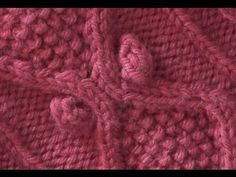 ▶ HOW TO KNIT A BOBBLE - Traditional Diamond Aran Cable With Bobbles. - YouTube