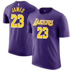 02f69d2fbae Outerstuff LeBron James Los Angeles Lakers  23 Purple Youth Name   Number  Jersey T-Shirt