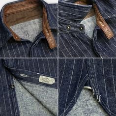 Rope Denim Heavy Nel Shirt
