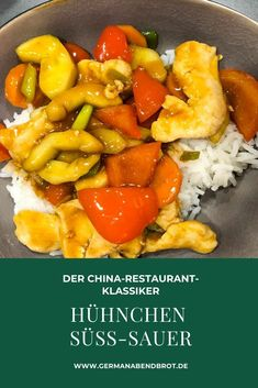 Der China-Klassiker: Hühnchen süß-sauer Weeknight Meals, Easy Meals, Foodblogger, Yummy Food, Yummy Recipes, China, Pork, Pasta, Cooking