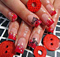 True Love French Nail Art
