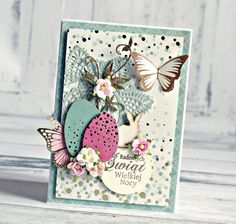 """Easter"" Catd 2 by Anna Zaprzelska for Kaisercraft using 'All that Glitters' collection ~ Cards 1.."