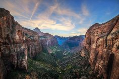 Photograph by Tom Anderson on Google+  Zion Canyon is a deep and narrow gorge in southwestern Utah, United States, carved by the North Fork of the Virgin River. Nearly the entire canyon is located within the eastern half of Zion National Park.