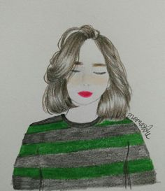 Green stripes  love the hair looks!