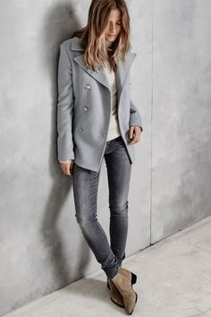 gray jacket. women fashion outfit clothing stylish apparel @roressclothes closet ideas