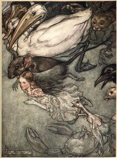 How Arthur Rackham's 1907 Drawings for Alice in Wonderland Revolutionized the Carroll Classic, the Technology of Book Art, and the Economics of Illustration – Brain Pickings Arthur Rackham, Alicia Wonderland, Adventures In Wonderland, Edmund Dulac, Lewis Carroll, Illustration Alice In Wonderland, Film Tim Burton, Alice Liddell, Fairytale Art