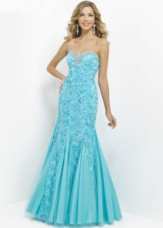 Blush Prom 9582 Floral Evening Gown