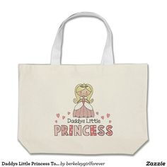 Daddys Little Princess Tote or Diaper Bag