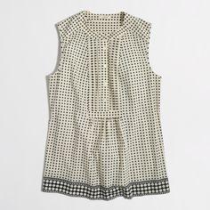 Factory printed tuxedo camisole : Sleeveless | J.Crew Factory
