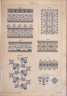 Ac&Arta: Motive traditionale vechi - Culese de Elisa I. Bratianu Creative Embroidery, Folk Embroidery, Embroidery Patterns Free, Cross Stitch Patterns, Embroidery Designs, Stitch Crochet, Blackwork, Folk Art, Needlework