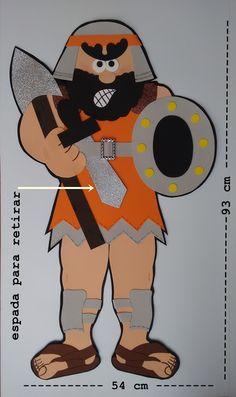 HISTÓRIA COM 16 ITENS:  - DAVI  -HARPA (26 cm alt , e.v.a. 3mm)  - ALFORGE (de feltro)  -CAJADO (59 cm alt, e.v.a. 3mm)  -OVELHAS  -COROA (de E.V.A. dourado)  -4 PEDRINHAS  -FUNDA (de feltro)COM A PEDRA  - SAUL (50cm alt) + LANÇA (46 cm)  - JONATAS  -SAMUEL (42 cm alt) + CHIFRE COM ÓLEO (37 cm)  ... Art For Kids, Crafts For Kids, David And Goliath, Bee Party, Sunday School Crafts, Tigger, Disney Characters, Fictional Characters, Clip Art