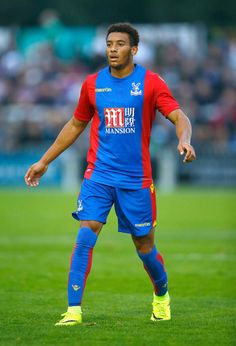 Keshi Anderson of Crystal Palace in action during the Pre Season Friendly match between Bromley Town FC and Crystal Palace at Hayes…
