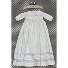 Długa bawełniana sukienka do chrztu
