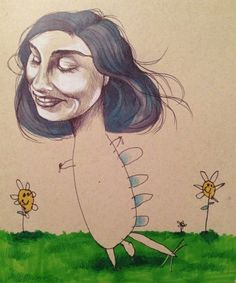 Illustrator draws faces, lets 4-year-old draw bodies, ends up with adorably weird art [14 pics]