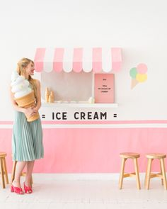 Ice Cream Truck Wall DIY | Oh Happy Day! #partydecor #diy