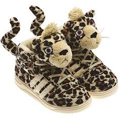 adidas Leopard Jeremy Scott Tail Sneakers Size US 10 Regular (M, B)