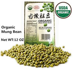 USDA Organic Mung Bean Sprouting Seed 12Oz Organic Dried Mung Beans for Sprouts Garden Planting Chinese  Asian Cooking Soup  More >>> You can get additional details at the image link.