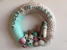 Summer Wreath with mini chalks - by La bottega delle Idee di Lecco