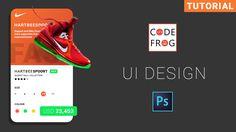 Photoshop Tutorial #photoshop #uidesign Ui Design Tutorial, Design Tutorials, Mobile App Ui, Daily Ui, App Ui Design, Photoshop Tutorial, Coding, Learning, Cards