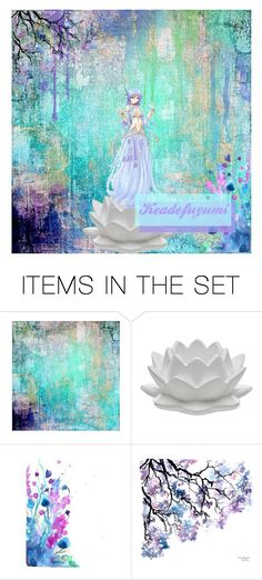 """Water lily icon"" by thegirlwhofelltoearth ❤ liked on Polyvore featuring art and keadefuyumi"