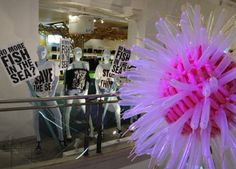One of many Project Ocean displays at Selfridges London