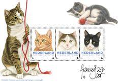 Postset Franciens katten 4 - Postsets - Postzegelproducten